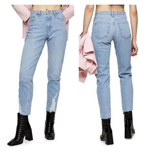 TOPSHOP 34L STRAIGHT JEANS